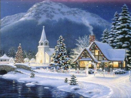 painting-repro-Christmas-Village-Guaranteed-100-Free-shipping.jpg
